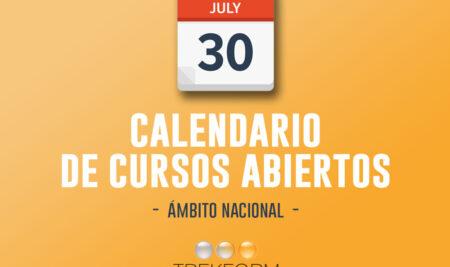 CALENDARIO NACIONAL DE CURSOS ABIERTOS TREKFORM