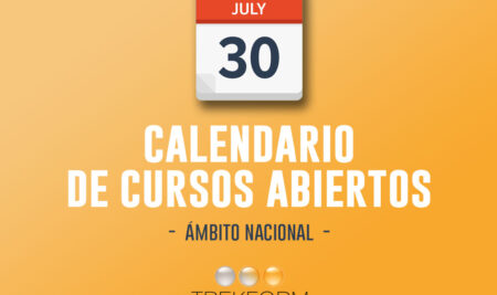 CALENDARIO NACIONAL DE CURSOS TREKFORM – ACTUALIZACIÓN HASTA SEPTIEMBRE 2019